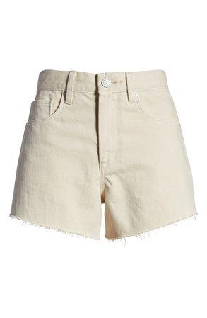 BLANKNYC The Barrow High Waist Cutoff Denim Shorts (Walkin' On Eggshells) | Nordstrom
