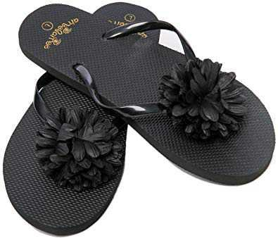 beach black flip flops womens - Google Search