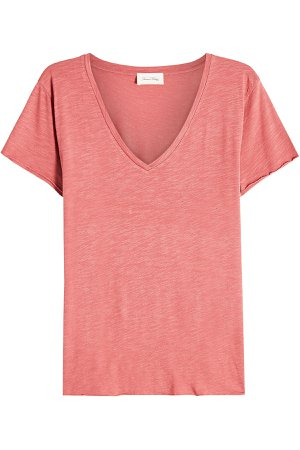 V-Neck T-Shirt with Cotton Gr. S