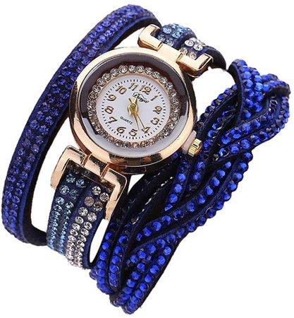 Women Crystal Bracelet Quartz Wrist Watch
