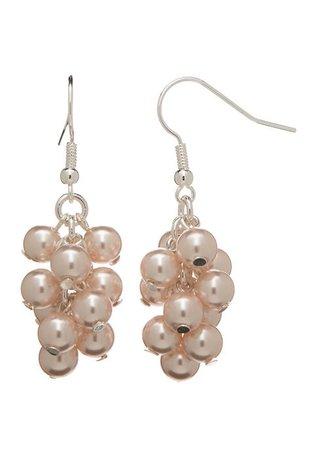 Kim Rogers® Silver Tone Pearl Cascade Drop Earrings   belk