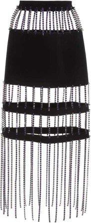 Christopher Kane Crystal Fringe Skirt