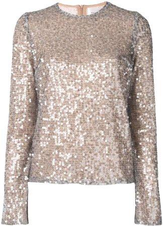 Oasis sequin embellished top
