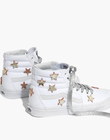 Star-Patched Vans Unisex SK8-Hi High-Top Sneakers