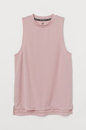 Ribbed Sports Tank Top - Pink
