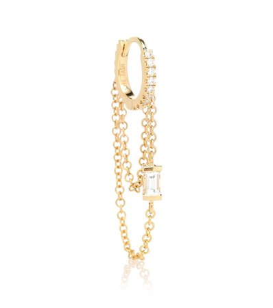 Maria Tash - Diamond Eternity 18k gold single earring with diamonds   Mytheresa