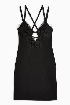 Black Lace Bodycon Mini Dress | Topshop
