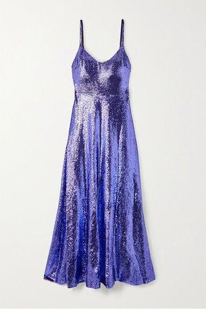 Purple Sequined silk-chiffon gown | Valentino | NET-A-PORTER