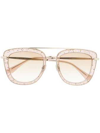 Jimmy Choo Eyewear Glossy Frame Sunglasses GLOSSYS Neutral   Farfetch