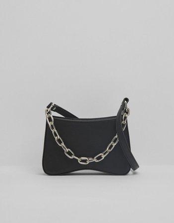 black Crossbody bag with chain - Accessories - Woman | Bershka