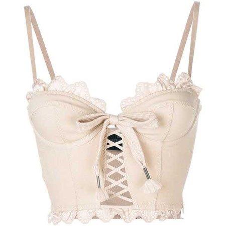 Fenty X Puma scalloped hem corset top ($425)