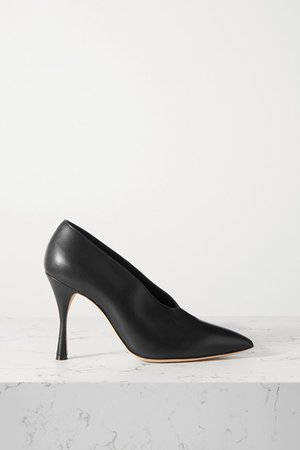 Erminda Leather Pumps - Black