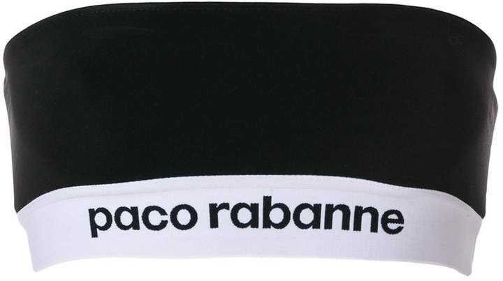 Paco Rabanne logo bustier top