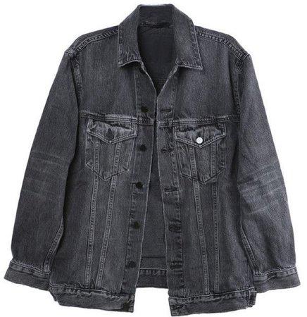 alexander wang grey denim jacket