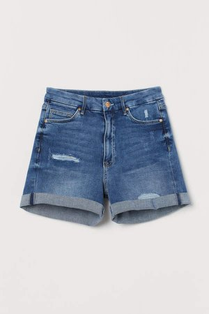 Embrace High Denim Shorts - Blue