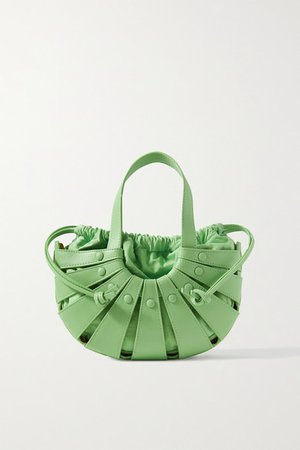 The Shell Small Leather Shoulder Bag - Green