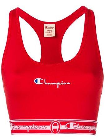 Champion Logo Print Sports Bra - Farfetch