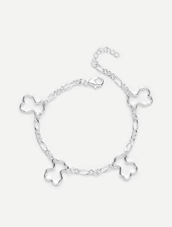 Hollow Charm Detail Link Bracelet