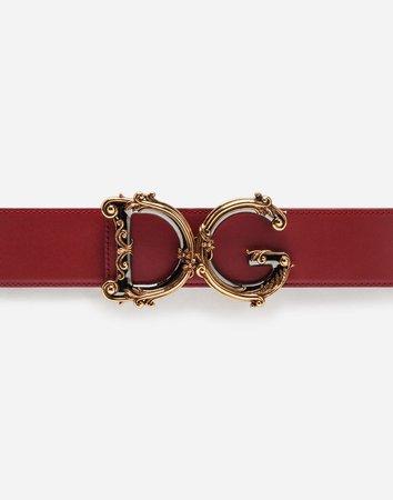 Belt with Logo - Women's Accessories   Dolce&Gabbana