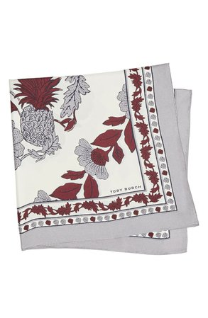 Tory Burch Wonderland Vine Floral Square Silk Scarf | Nordstrom