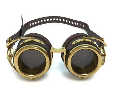 3d Illustration Of Steampunk Goggles Stock Photo, Picture And Royalty Free Image. Image 57873100.