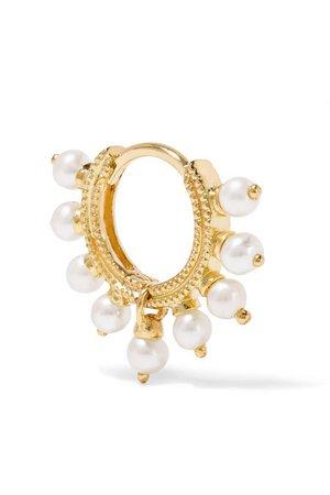 Maria Tash | 6.5mm 14-karat gold pearl earring | NET-A-PORTER.COM