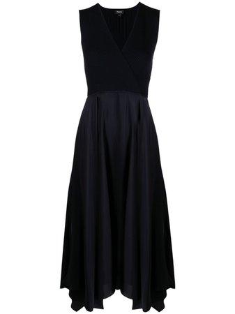 Theory драпированное платье в рубчик -50%- купить в интернет магазине в Москве   Цены, Фото.