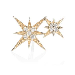 Stardust Button 18Kt White Gold And Diamond Earring - Stone Paris | mytheresa