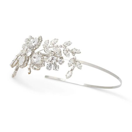 """The Abigail"" Crystal Detail Side Headband"