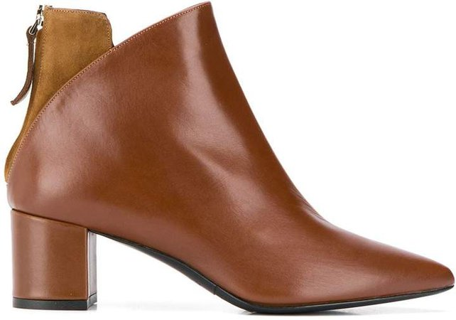 contrasting panel ankle boots