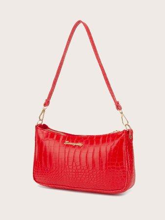 Crocodile Baguette Bag | SHEIN USA