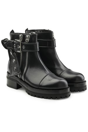 Embellished Leather Ankle Boots Gr. EU 37