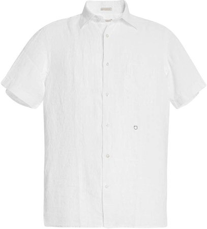 Textured Cotton Button-Down Shirt