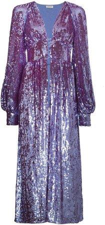 ATTICO long sleeve sequin embellished robe