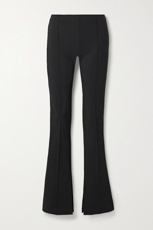 Stretch-crepe Flared Pants - Black
