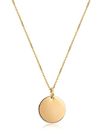 Amazon.com: JINBAOYING I Love You Heart Necklace Dainty Choker Charm Pendant Gold/Rose Gold Plated Chain with Adjustable Unique Gift Jewelry for Women Girls (Round Necklace-Gold): Jewelry
