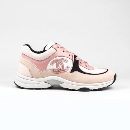 pink chanel tennis shoes