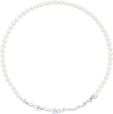 Louison Crystal & Imitation Pearl All Around Necklace