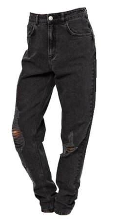 grunge black mom jeans
