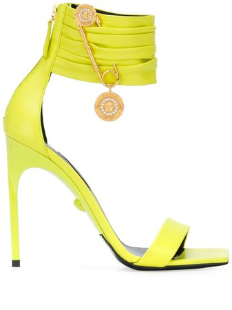 Versace Safety Pin Detail Square Toe Sandals - Farfetch