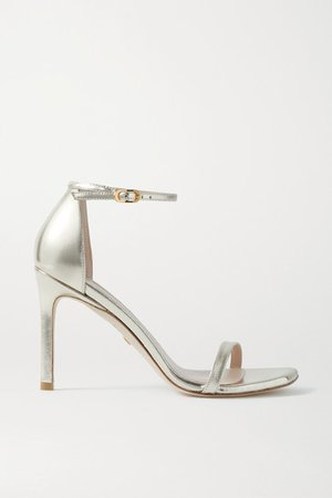 Amelina Metallic Leather Sandals - Gold