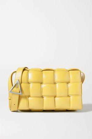 Yellow Cassette padded intrecciato leather shoulder bag   Bottega Veneta   NET-A-PORTER