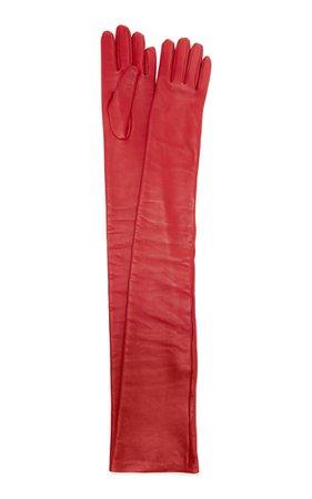 Long Leather Gloves By Valentino | Moda Operandi