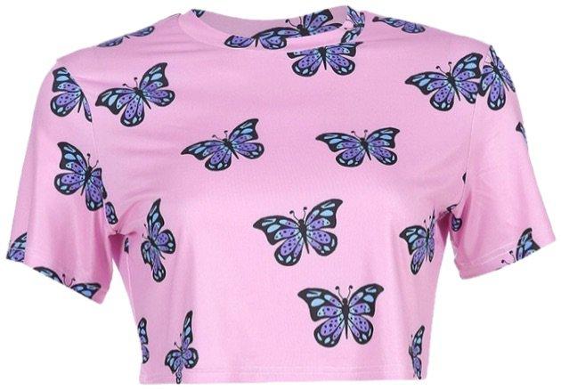 pink butterfly shirt✨