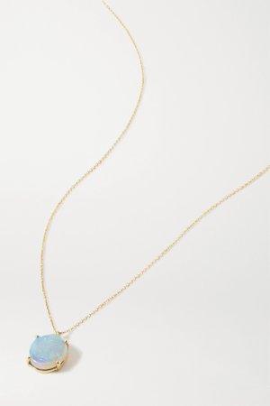 Gold 14-karat gold opal necklace | Wwake | NET-A-PORTER