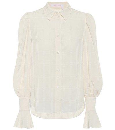 Flared-sleeve blouse