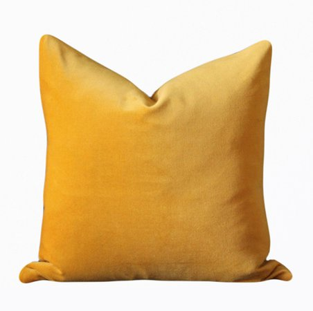 "Amazon.com: 18""x18"" Gold Yellow Velvet Throw Pillows Cover Case For Couch Sofa Square Pure Color Lumber: Home & Kitchen"