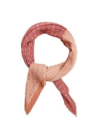 MANGO Printed pleated scarf