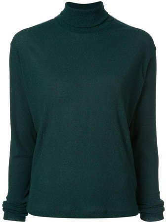 lined high-neck top