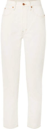 SLVRLAKE - Beatnik Ankle Cropped High-rise Slim-leg Jeans - White